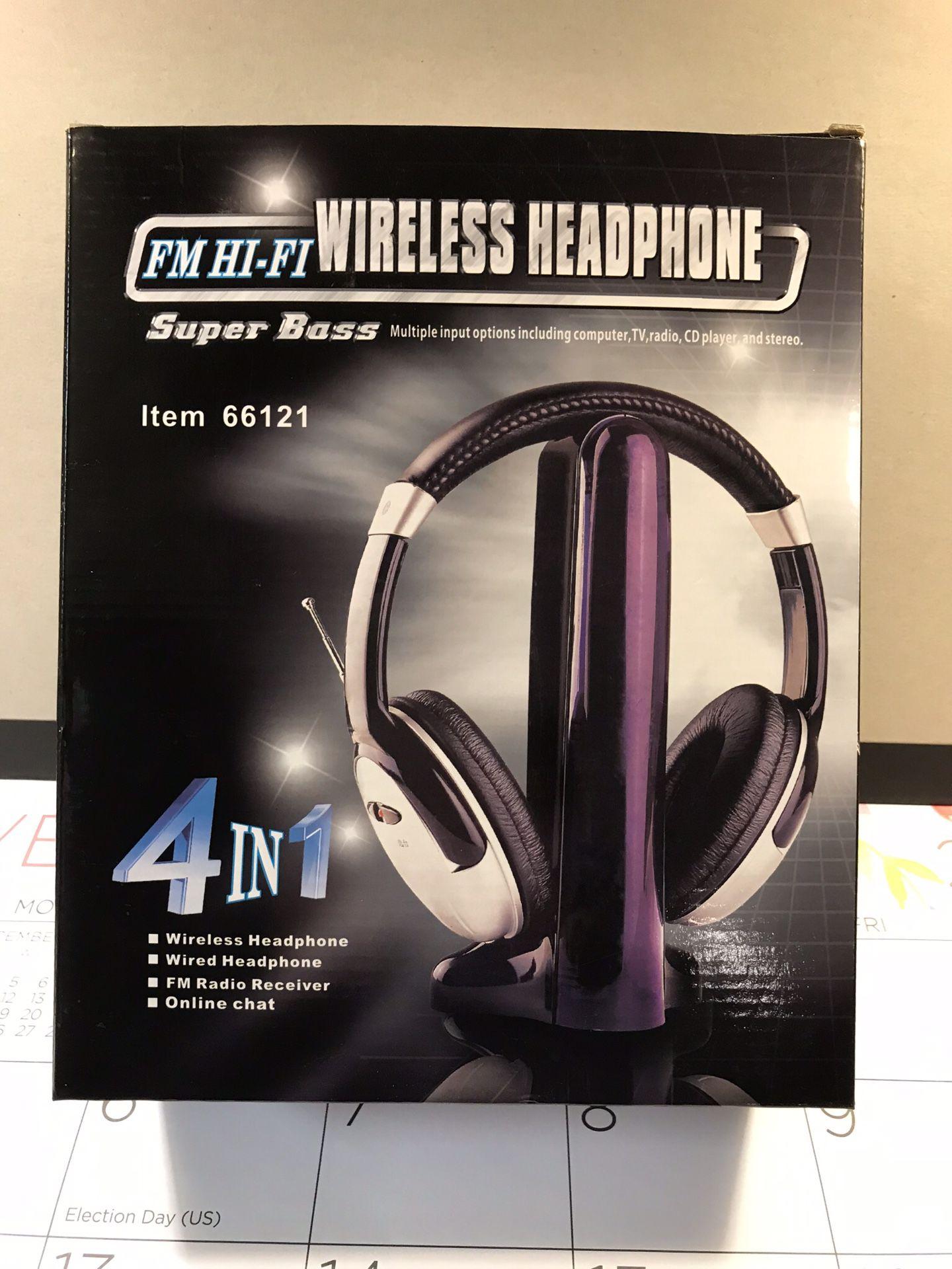 Super bass wireless headphones