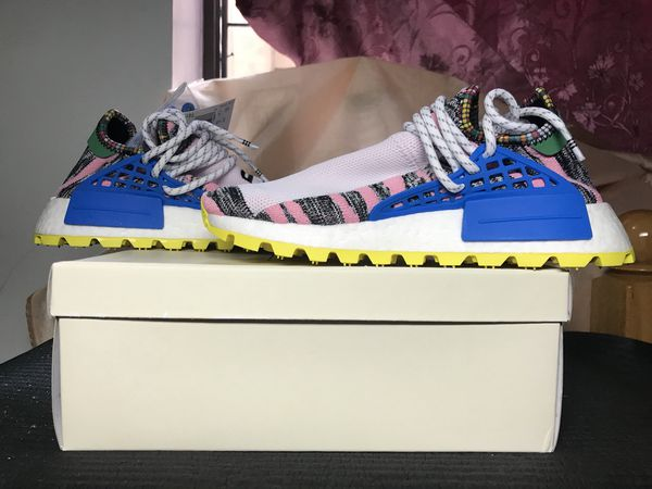 7c66df823 Adidas NMD HU Human Pharrell Williams Solar Pack Mother Size 5 BB9531. New  York ...
