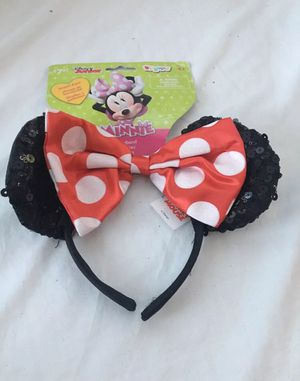Disney Minnie Mouse Ears Red Bow Headband for Sale in Union City, CA
