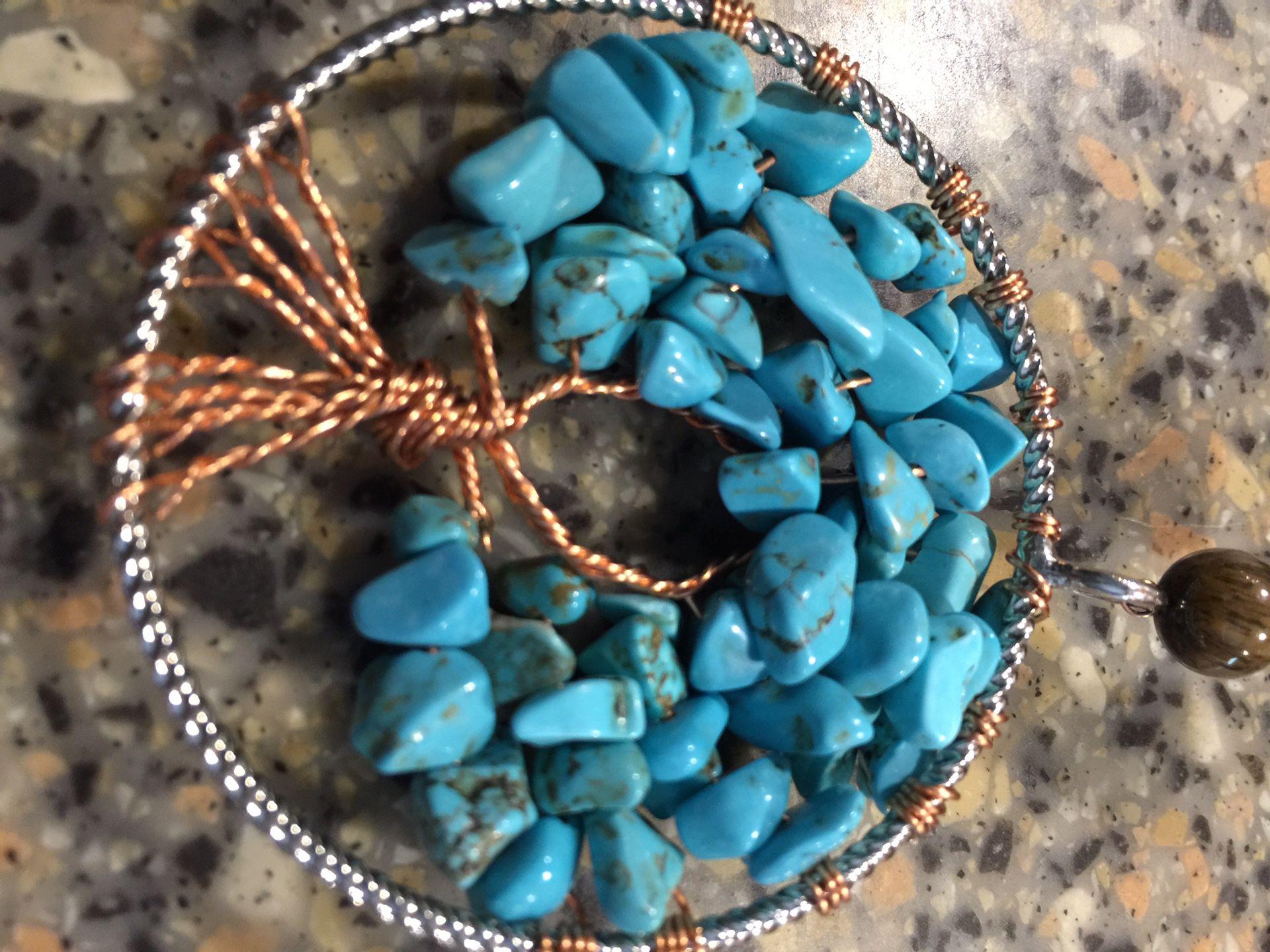 Spiritual tree of life lucky horseshoe art