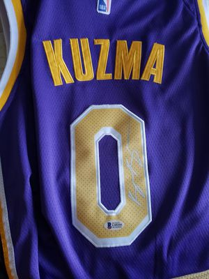 low priced 17082 01a5c Los Angeles Lakers Kyle Kuzma Autograph Jersey w/Certification for Sale in  Lake Forest, CA - OfferUp