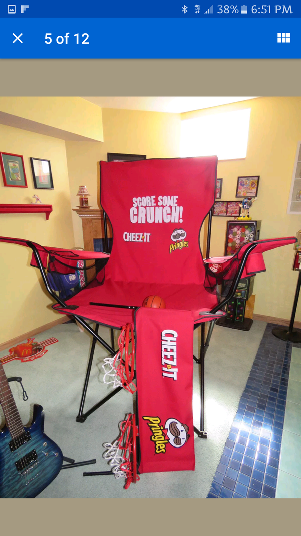 giant cheez it foldable chair 358 8519 559 for sale in tulare ca