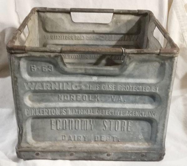 Furniture Stores Wheaton Il: Vintage Pinkerton Metal Milk Crate For Sale In Wheaton, IL