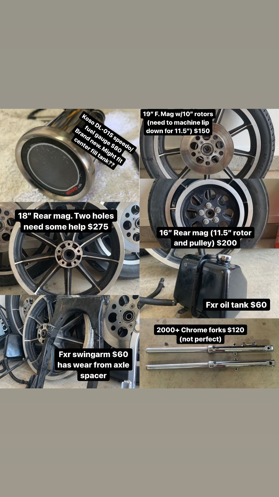 Photo Harley Parts For FXR Sportster Or Dyna