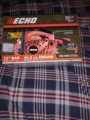 Echo 18inch chainsaw 40.2cc Engine Cs-400 for Sale in Orlando, FL