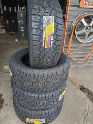 Photo 33X12.50X20 NEW ALL TERRAIN TIRES FOR 780 DOLLARS WITH EVERYTHING INCLUDED TAX INCLUDED FINANCING AVAILABLE NO CREDIT CHECK, 90 DAYS SAME AS CASH