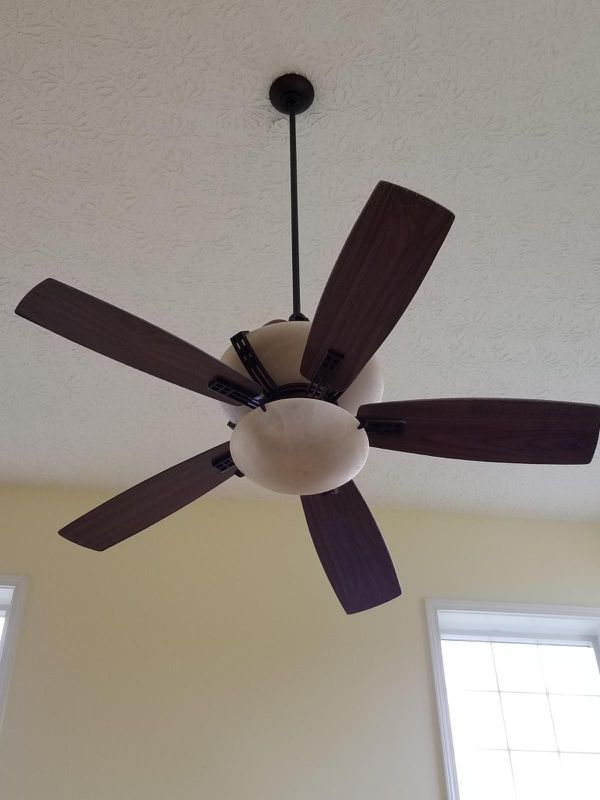 60 Double Light Upper And Lower Remote Controlled Ceiling Fan