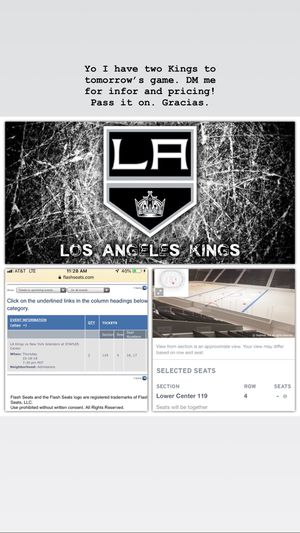 Great Kings Tickets 10/18 for Sale in Beverly Hills, CA
