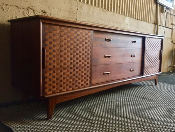 Danish Credenza Los Angeles : Mid century danish large solid walnut dresser credenza