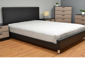 LEATHER BROWN BED FRAME QUEEN SIZE for Sale in Miramar, FL