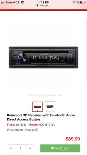 Kenwood car stereo usb/aux for Sale in Alameda, CA