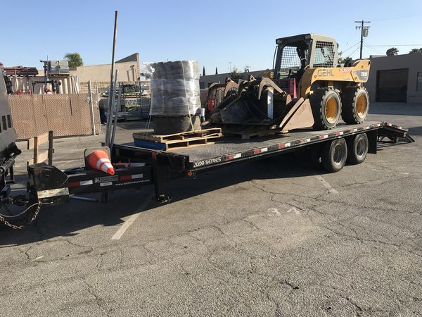 Bobcat Gehl Skid Steer Grapple Forklift Trailer Breaker Flatbed Dump