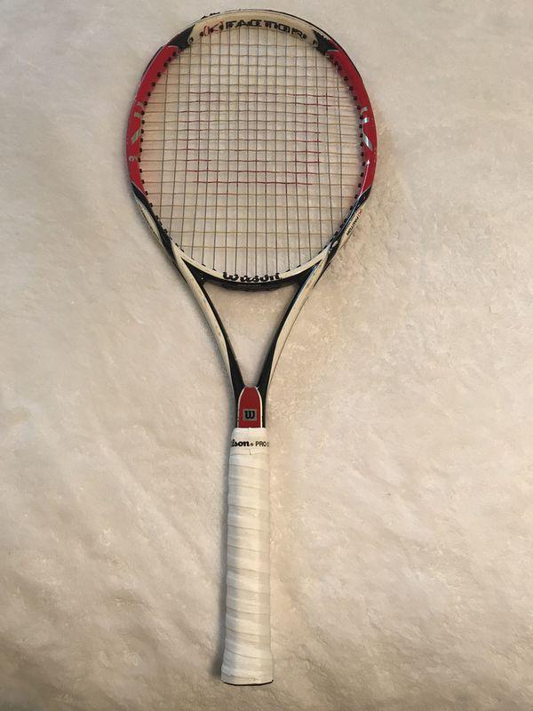 2cb375331 Wilson K Factor Six One Team Tennis Racket for Sale in Marietta, GA ...