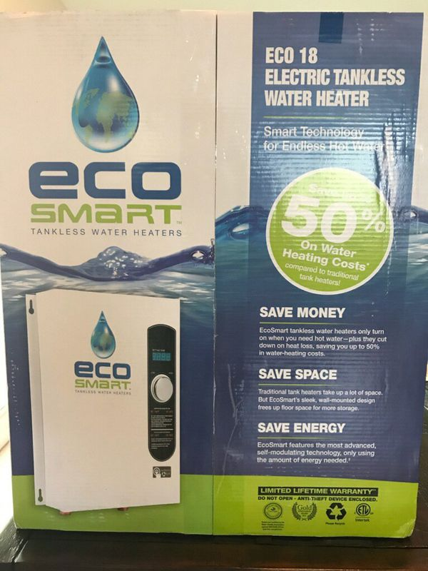 eco 18 brand new tankless water heater for sale in miami, fl
