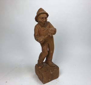 """Vintage hand carved wood sculpture/ statue - 24"""" (2 feet) high unique collectible for Sale in Palm Beach Gardens, FL"""