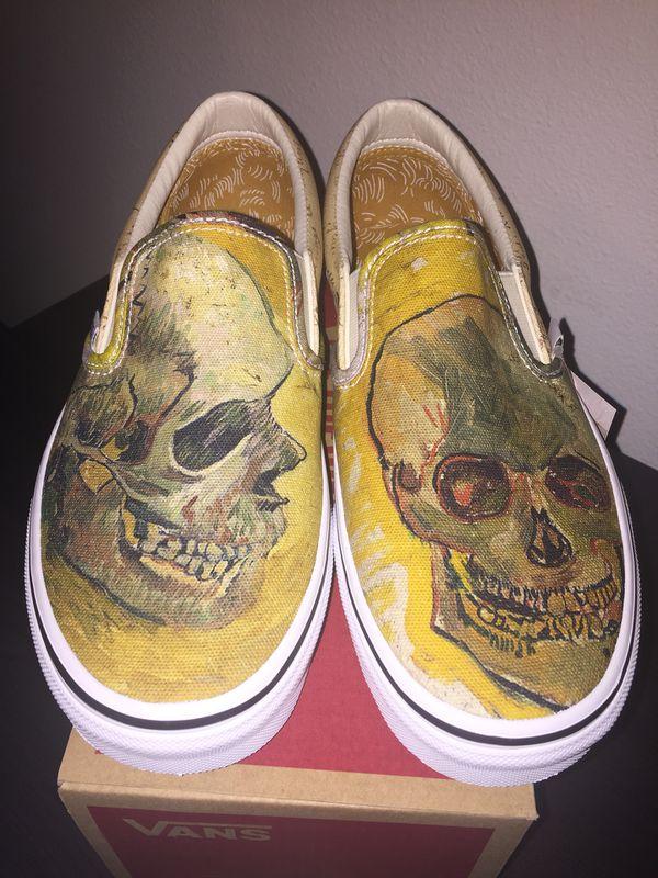 140bea4cc4 Vincent Van Gogh Vans Skull Slip Ons for Sale in Arlington