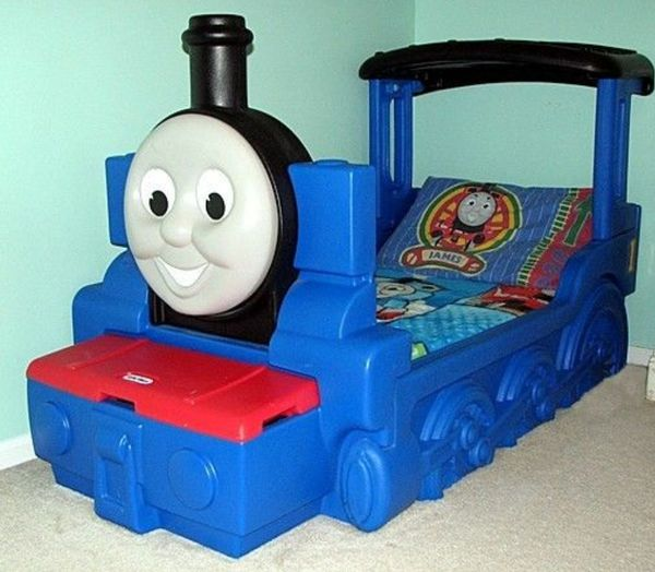 Thomas The Train Toddler Bed Used Easy Snap Together For