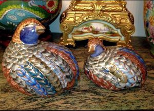 Antique Ceramic Partridge 14K Gold Figurine for Sale in Salt Lake City, UT