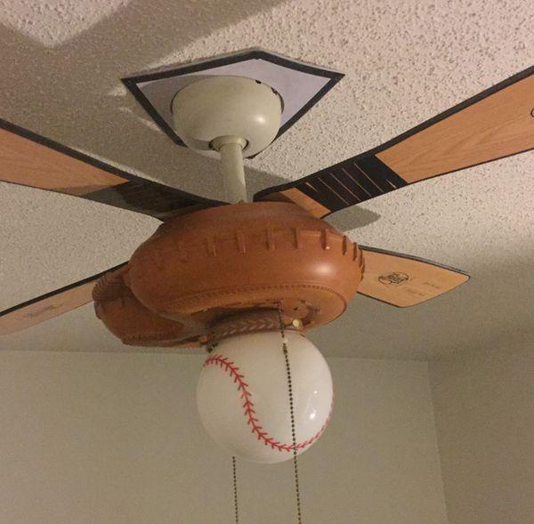 Hunter 44 ceiling fan with baseball theme bat catchers mitt glove hunter 44 ceiling fan with baseball theme bat catchers mitt glove appliances in miramar fl offerup aloadofball Gallery