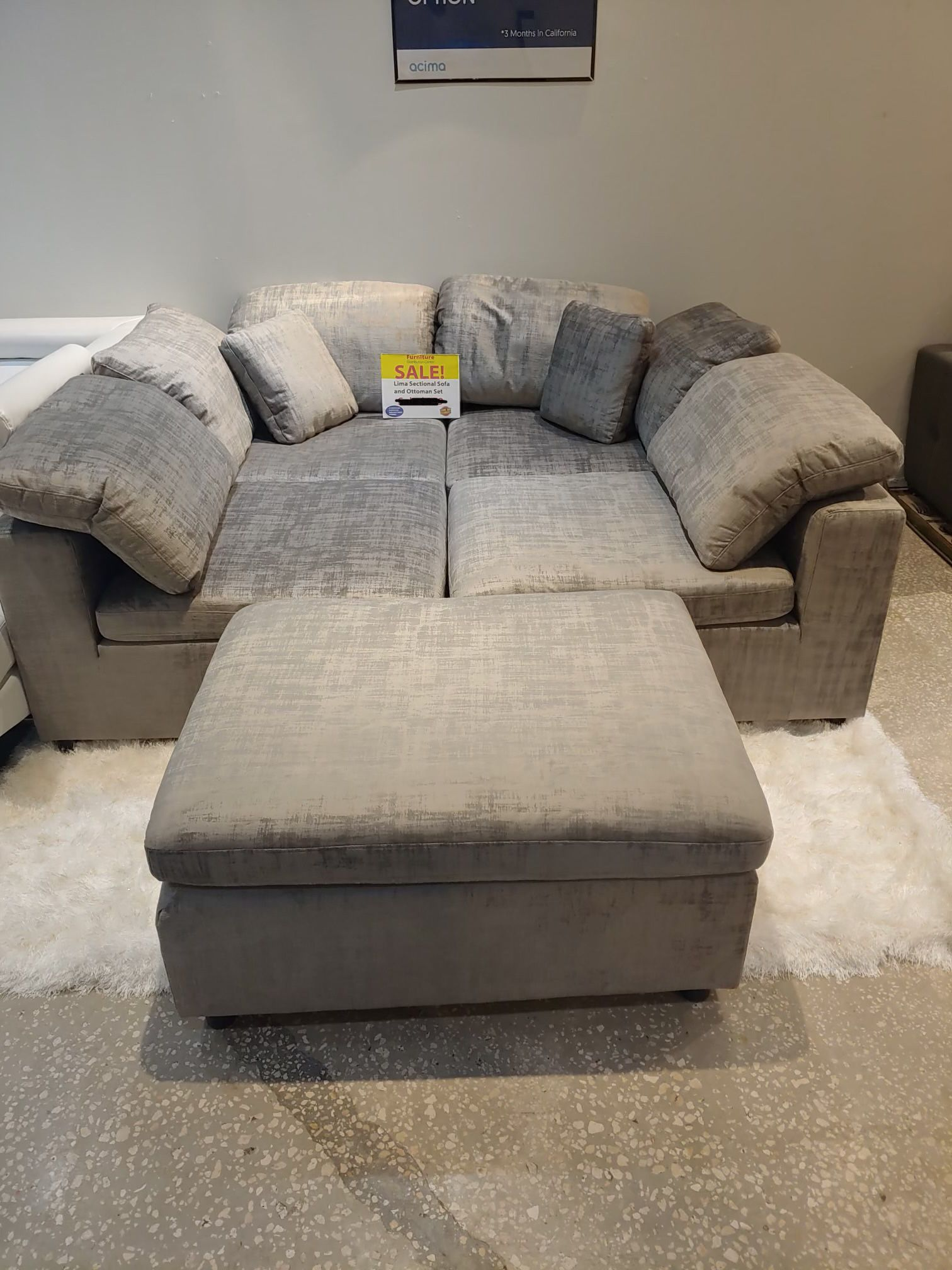 Same Day Delivery!🚚💨 -Lima Modular Sectional Sofa w/Ottoman-**90 Days Interest Free**