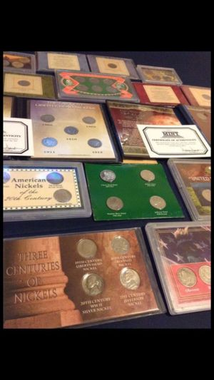 Huge Collection of 13 Professional Coin Sets-- 1890s-1940s-- Liberty V Nickels, Buffalo Nickels, & Silver WWII Jefferson Nickels- In Professional Coin for Sale in Oakton, VA