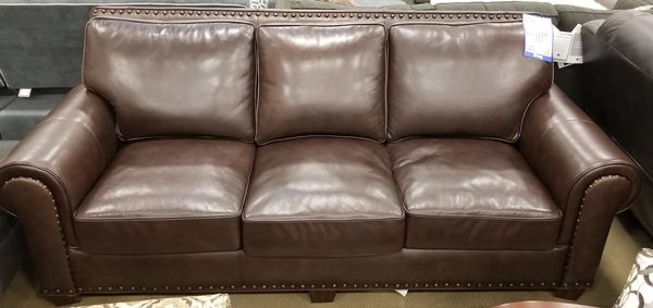 Big Box Outlet Store-Leather Sofa for Sale in Sacramento, CA - OfferUp