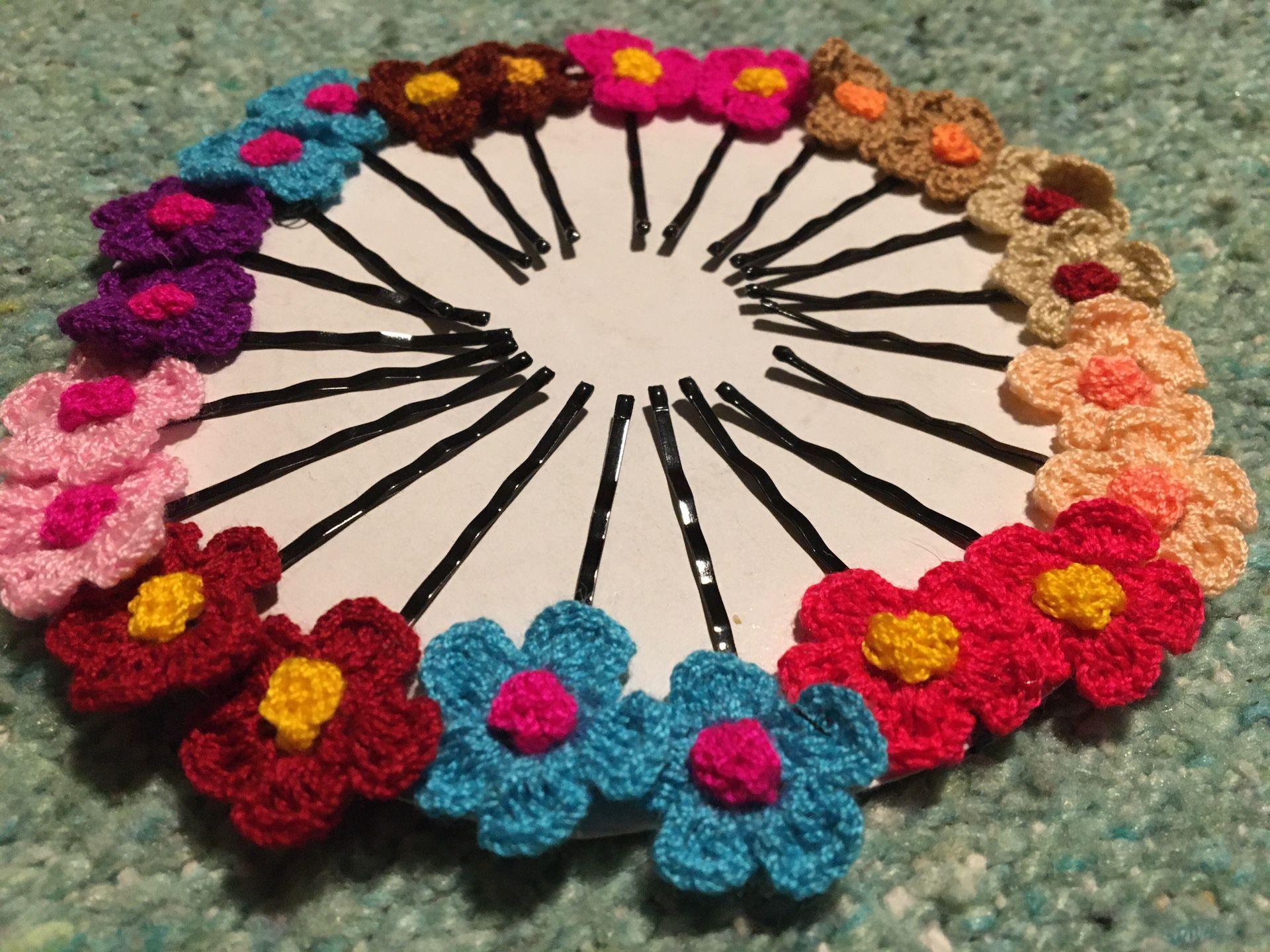 Adorable Crochet Flower Hair Accessories