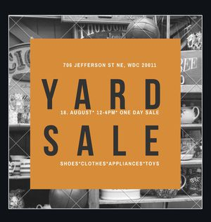 Yard Sale this Saturday for Sale in Washington, DC
