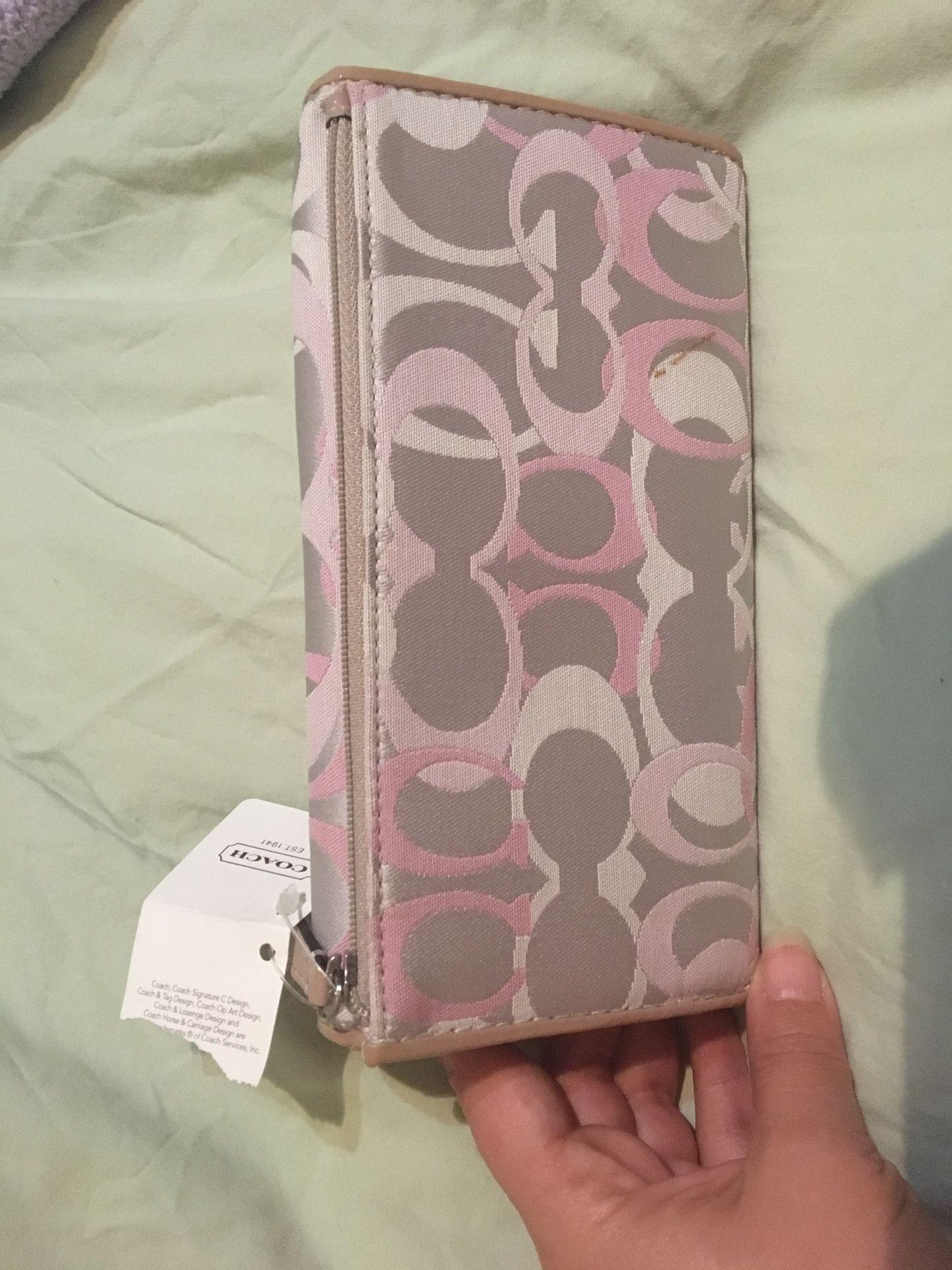 Coach Pink Envelope Wallet