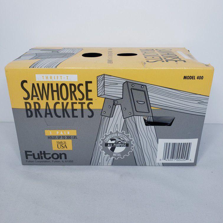Fulton Sawhorse Brackets- 1 Pair New