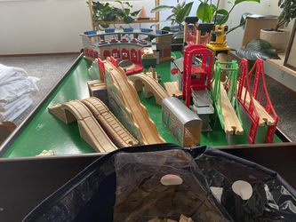 Thomas And Friends, Brio, Melissa And Doug, Train Table And Accessories  Thumbnail