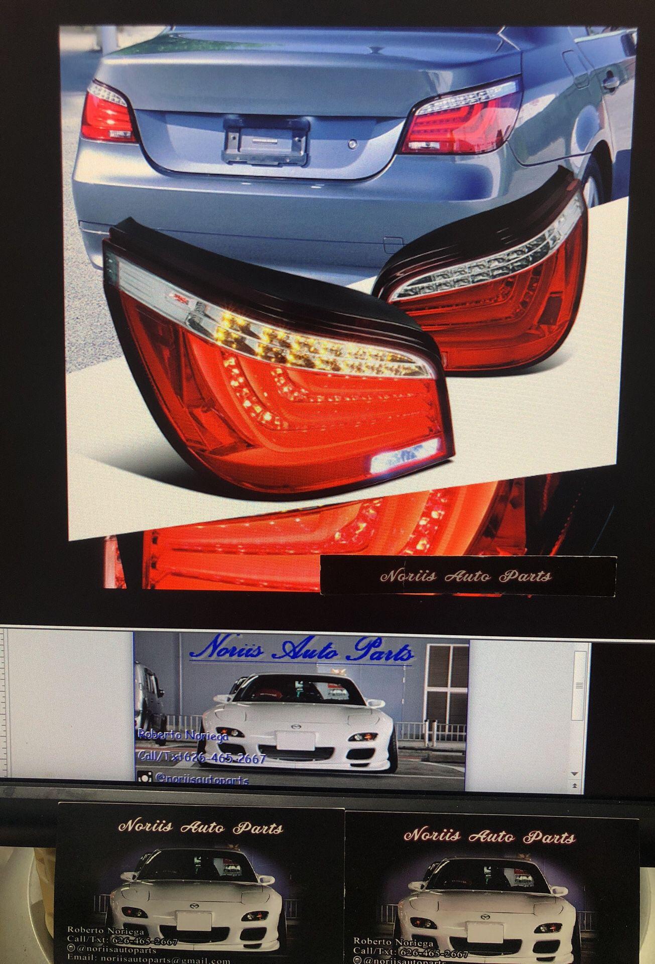 04-07 BMW E60 525i 530i 545i 550i LED Clear Tail Lights