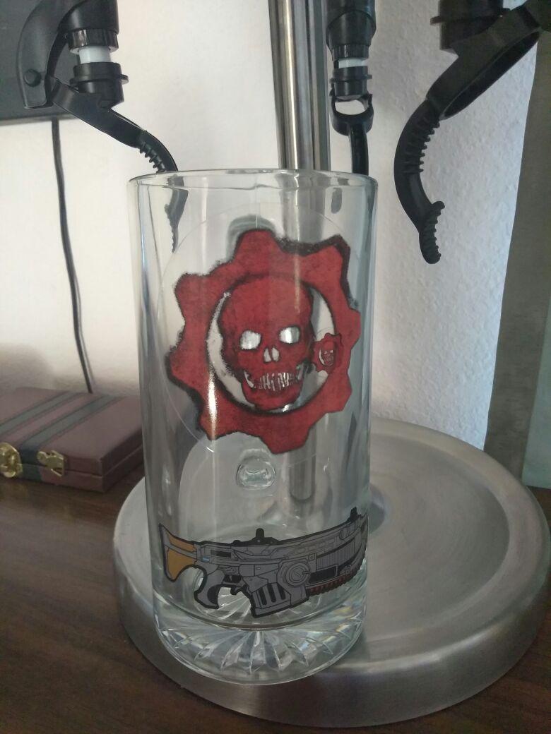 Gears of war beer mug