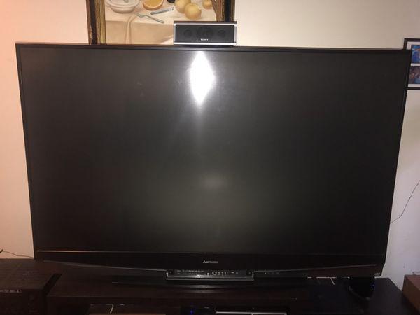 72 inch Mitsubishi plasma tv (needs bulb) $350 for Sale in Miami, FL -  OfferUp