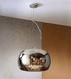 Argos Small Chrome Finish Ceiling Shade With Glass Droplets by Schuller for Sale in Austin, TX