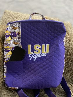 HANDMADE Quilted LSU Backpack Thumbnail