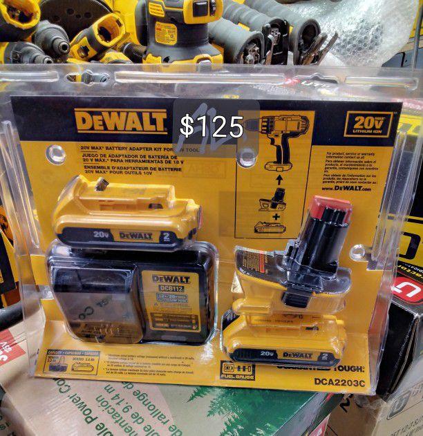 DeWalt 20v Max Lithium-Ion Battery Adapter Kit