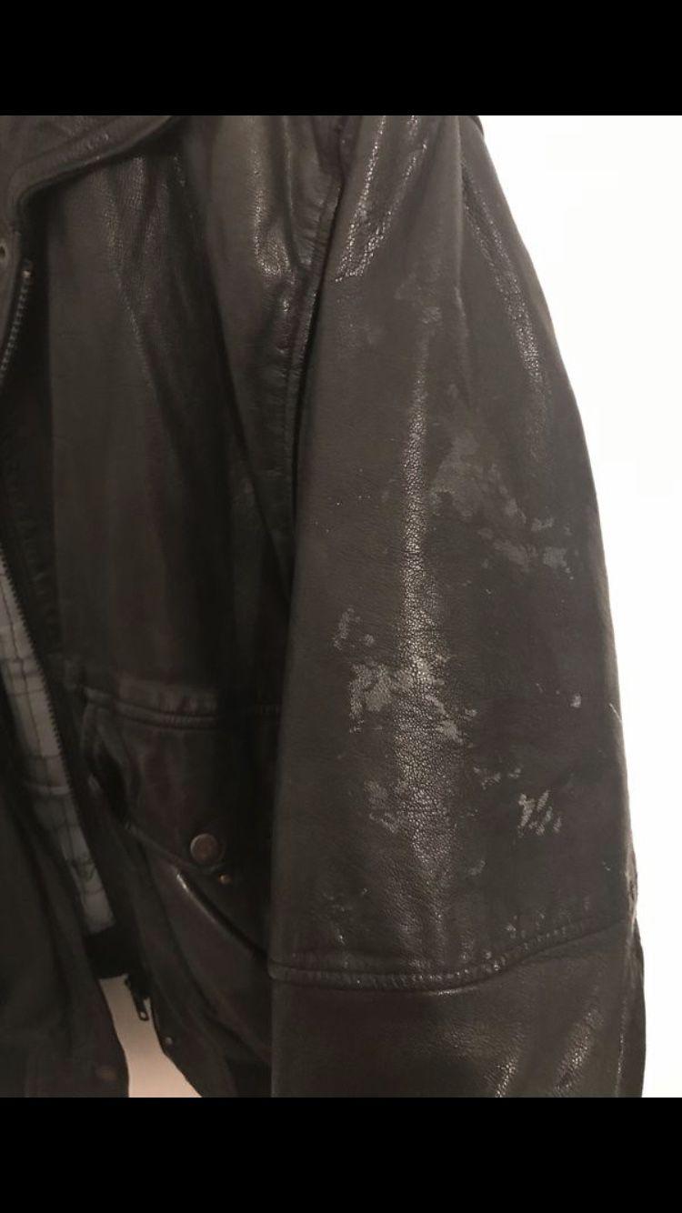 Vintage men's leather jacket size large