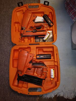 Two passload trim nail guns with 2 batteries and 2 tubes for Sale in Perkasie, PA