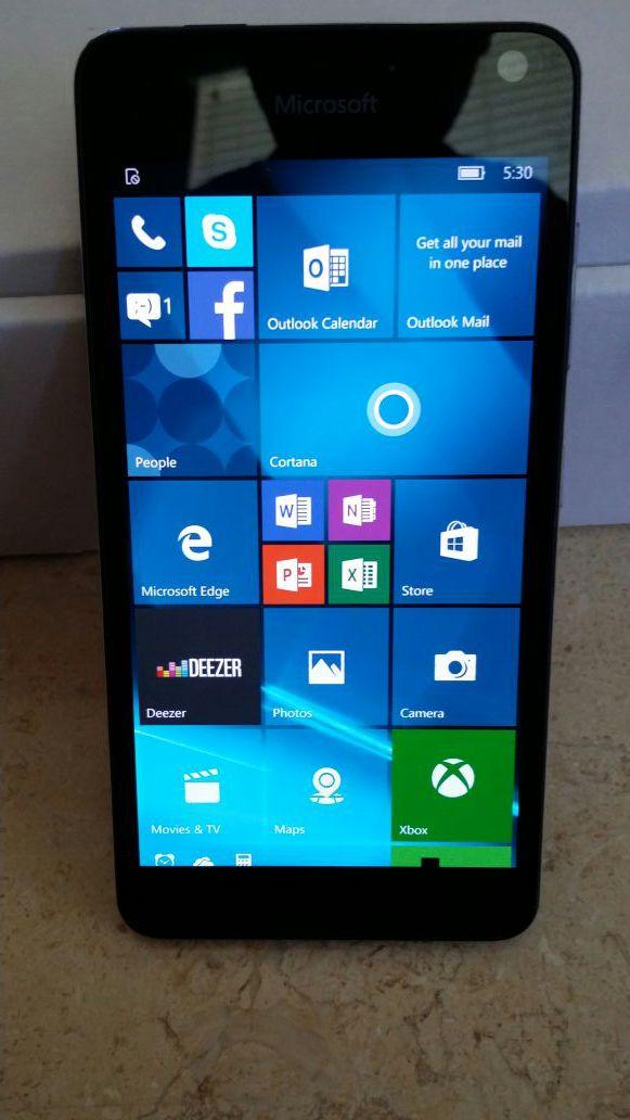 "Unlocked GSM Microsoft Lumia 650, 16GB 5 "" smart phones"