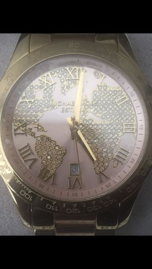 Gold rose gold world map watch michael kors jewelry accessories gold rose gold world map watch michael kors for sale in osteen gumiabroncs Images