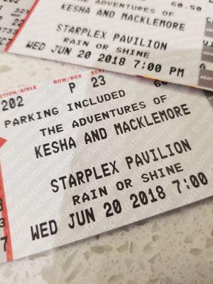 2 Tickets - Kesha & Macklemore Dallas @ Starplex / Dos Equis on 6/20/18 for Sale in Dallas, TX