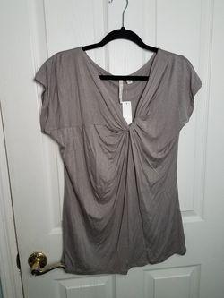 NWT New York & Co Streetwear silver knot top Thumbnail