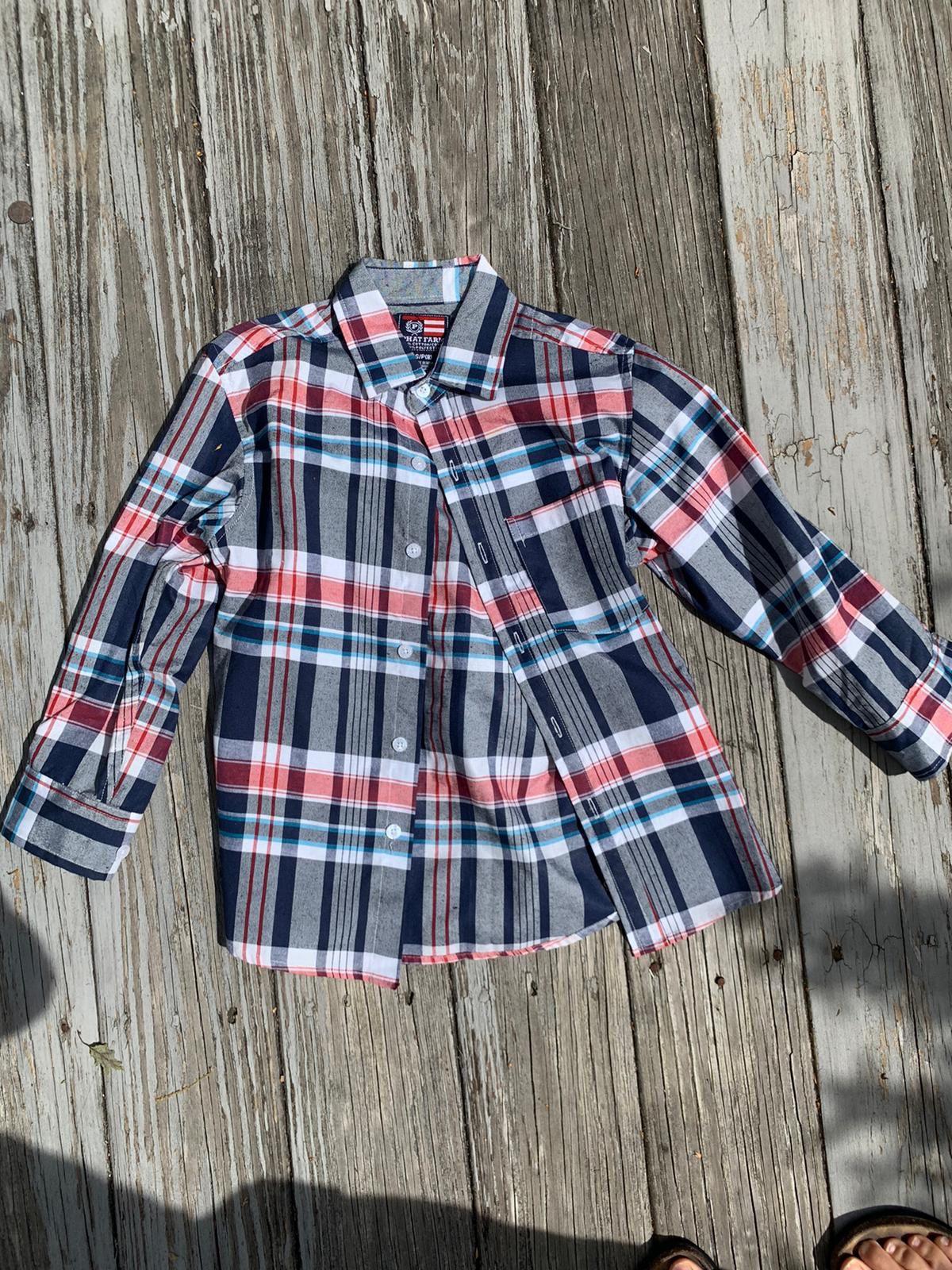 Boys small collar shirt