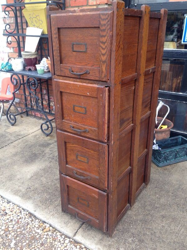 $200SOLD - Antique Weis 4 Drawer Oak File Cabinet For Sale In Garland, TX - OfferUp