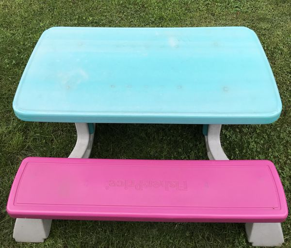 Fisher price kids picnic table good condition baby kids in fisher price kids picnic table good condition baby kids in cleveland oh offerup watchthetrailerfo