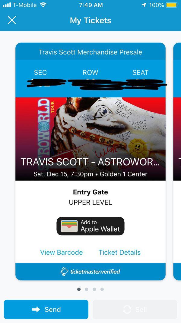 a13ea5c2918e TRAVIS SCOTT GOLDEN ONE PRESALE TICKETS for Sale in Lincoln, CA ...