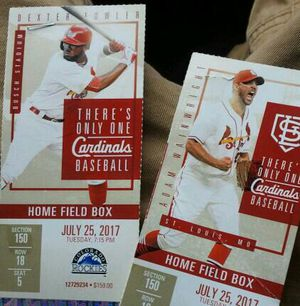Game tickets great deal for two for Sale in St. Louis, MO