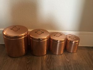 Old Copper Kitchen Containers for Sale in Austin, TX