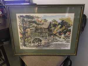 Paul n Norton water color Lito for Sale in Branford, CT